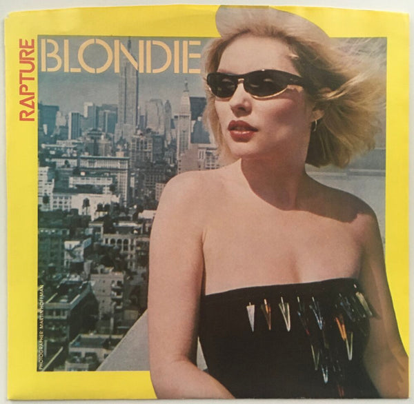 "Blondie, ""Rapture"" Single (1981). Front cover image. Pop-punk, power pop. Punk."