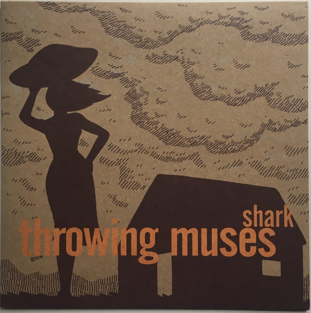 "Throwing Muses, ""Shark"" Single (1996). Front cover image. Alternative-rock, Kristen Hersh, 4AD."