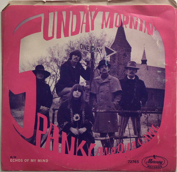 "Spanky And Our Gang, ""Sunday Mornin'"" Single (1967). Back cover image. Pop-folk, rock."