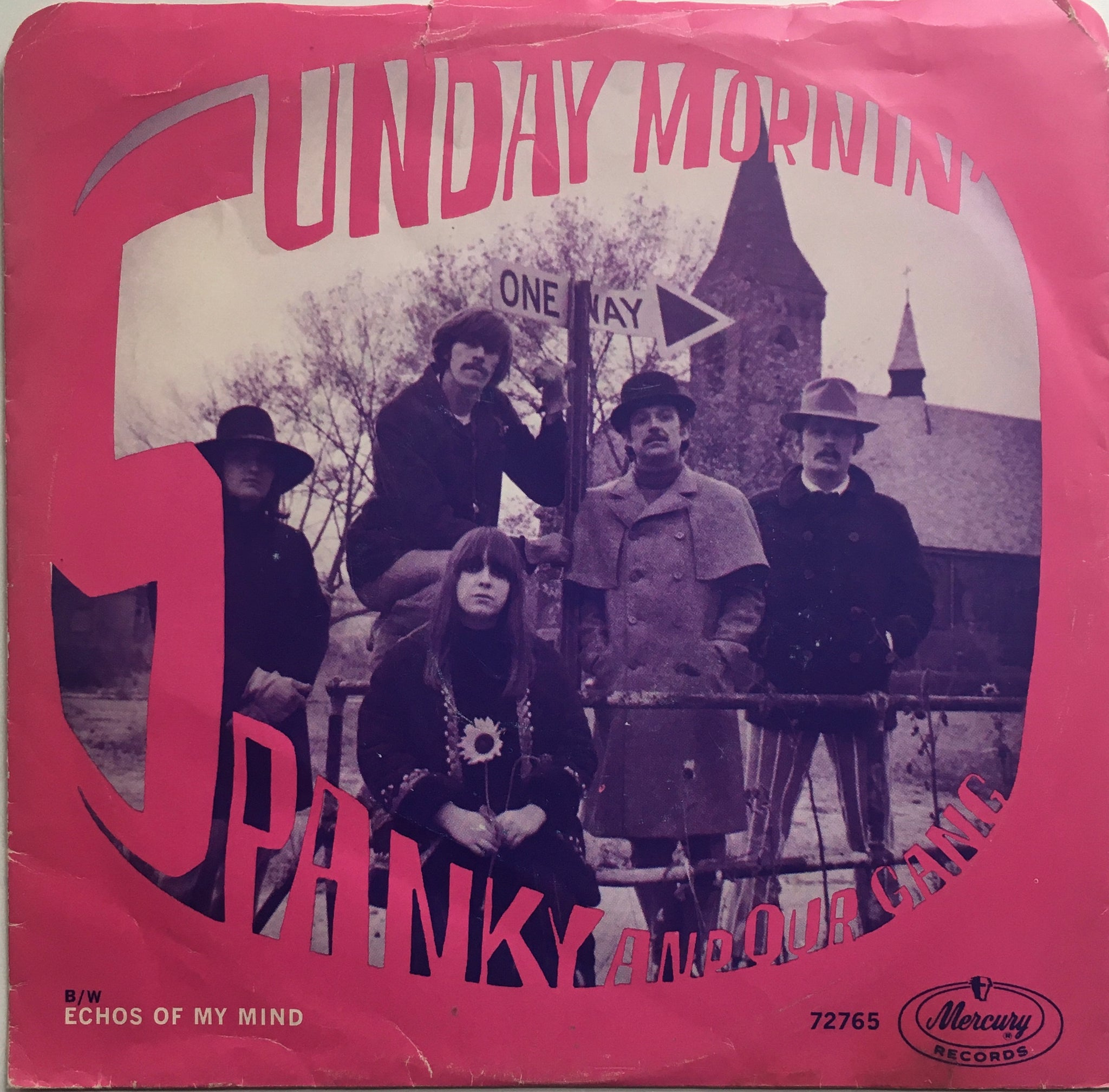 "Spanky And Our Gang, ""Sunday Mornin'"" Single (1967). Front cover image. Pop-folk, rock."