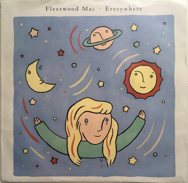 "Fleetwood Mac, ""Everywhere"" Single (1987). Front cover image. Stevie Nicks. Pop, pop-rock, classic rock."