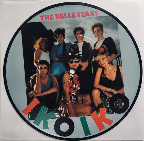 "The Belle Stars, ""Iko Iko"" Single (1982). Picture disc front image. 2Tone, new wave, pop and rocksteady from The Belle Stars."