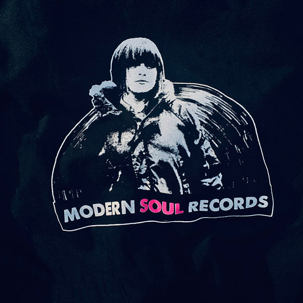Modern Soul Records, Logo on Black T-Shirt, Awesome Dudes Printing, 2020.