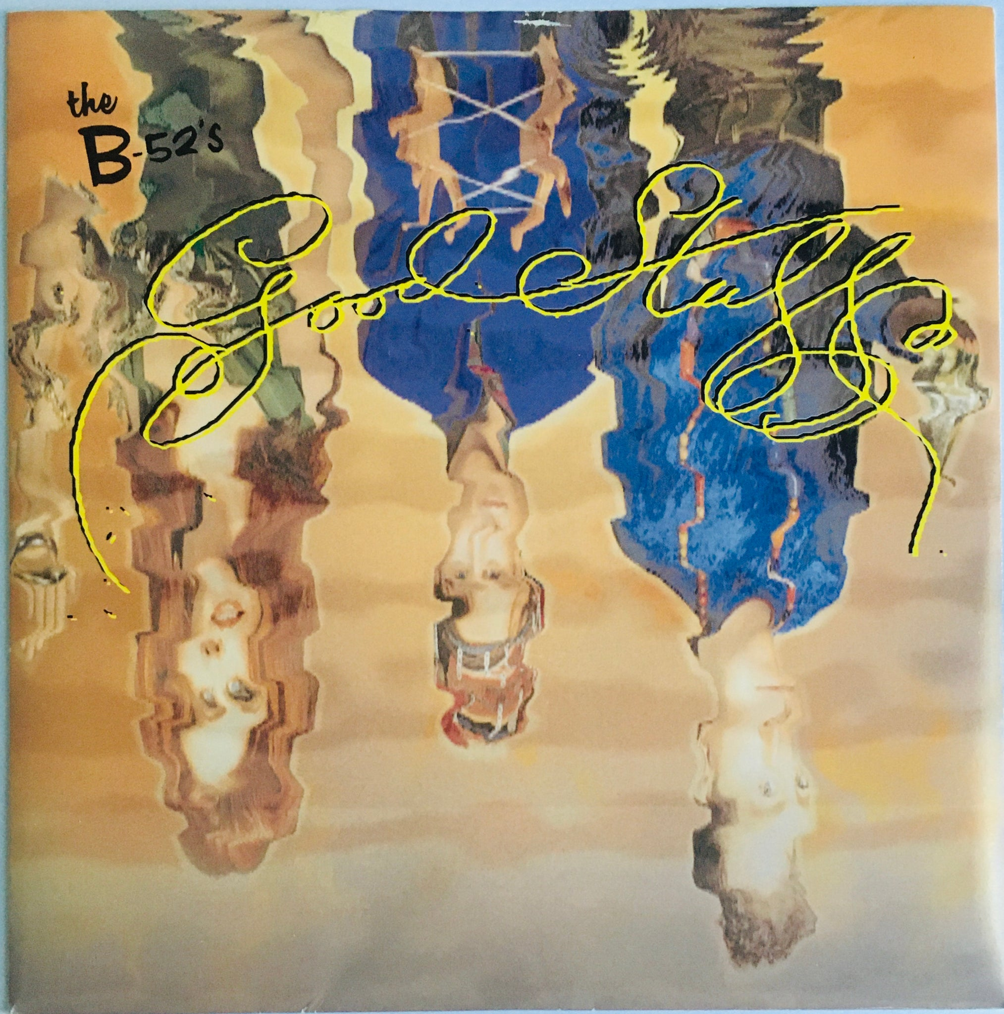 "The B-52's, ""Good Stuff"" Single (1992). Front cover image. Pop-rock, modern rock, experimental, fun pop!"