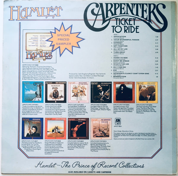 "Carpenters ""Ticket To Ride"" LP (1969)"