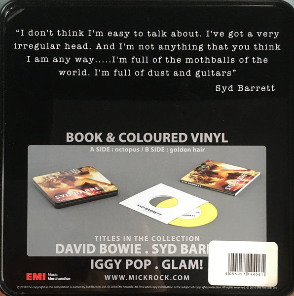 "Syd Barrett / Mick Rock 7"" Photo Book Collectible Tin Box (2010)"