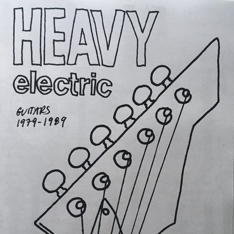 """Heavy Electric"" Coloring Book Zine (Guitars 1979-1989) by Rebecca V.-Flores"