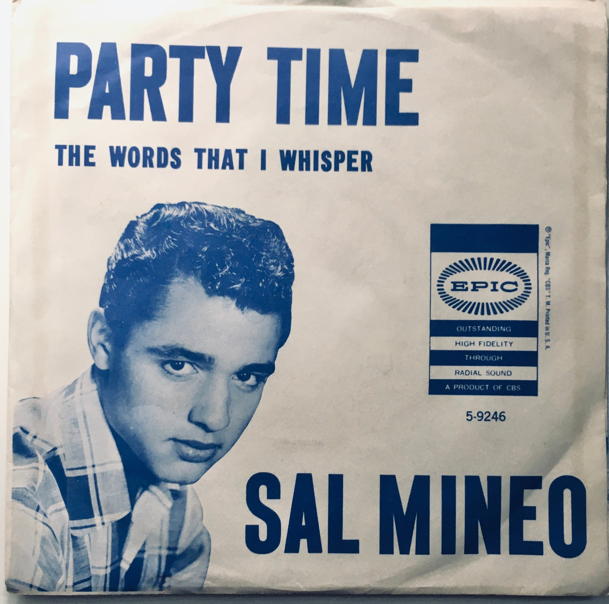 "Sal Mineo ""Party Time"" Single (1957)"