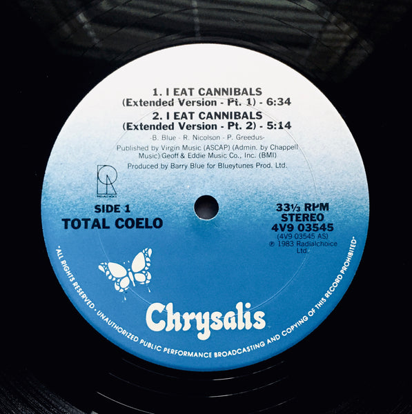 "Total Coelo ""I Eat Cannibals"" PR 12"" SINGLE (1983)"
