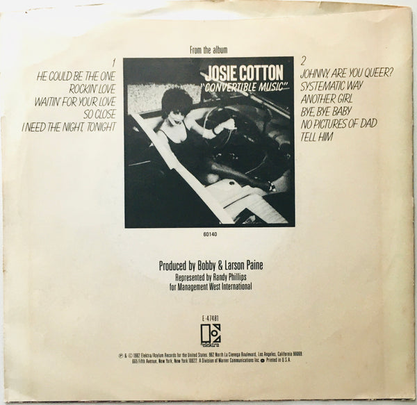 "Josie Cotton ""He Could Be The One"" Single (1982)"