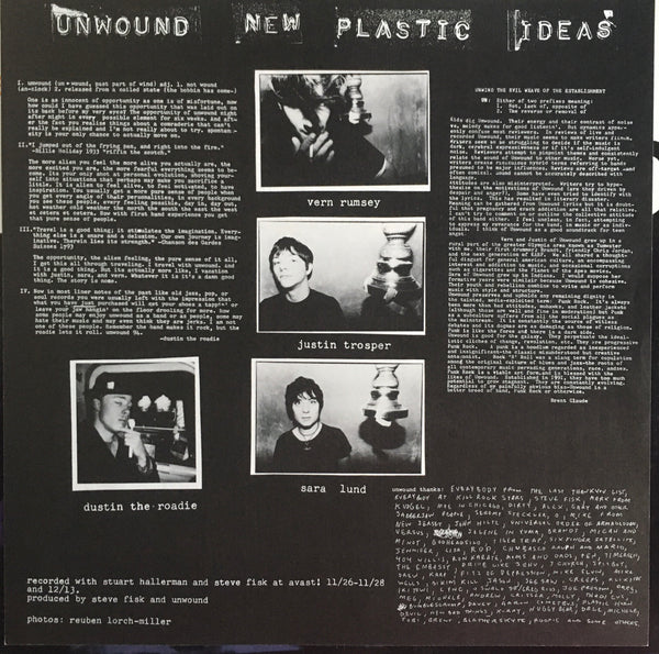 "Unwound ""New Plastic Ideas"" LP (1994)"