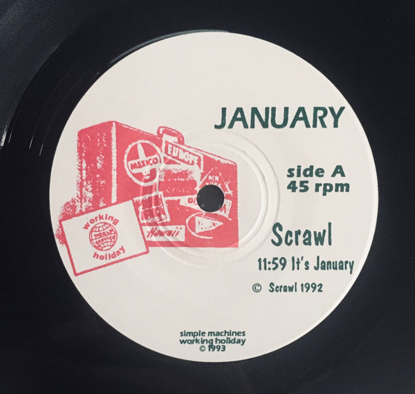 "Scrawl and Versus ""Working Holiday/January Split"" Single (1993)"