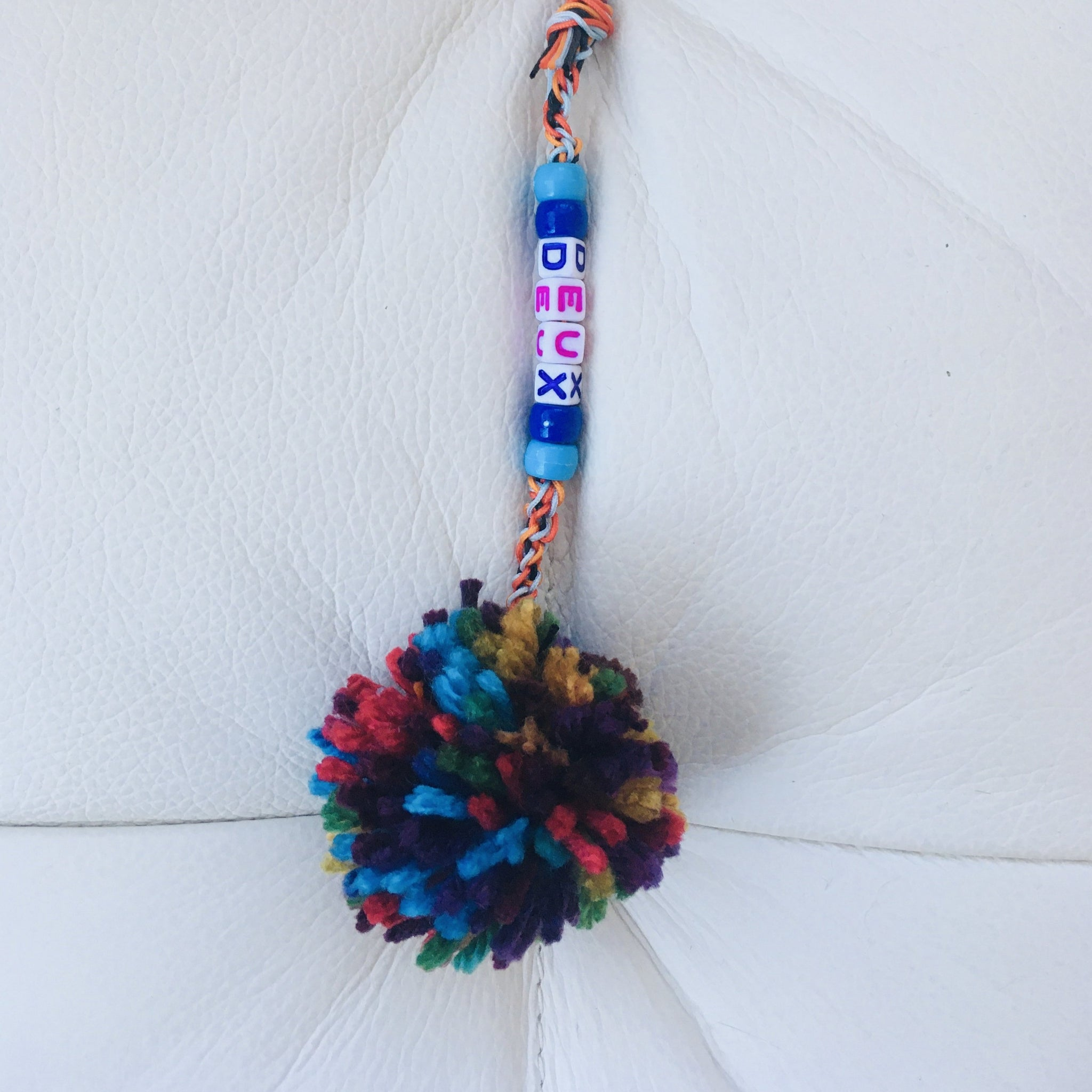 "Braided Bag Pom-Pom Pull ""Deux"" Variation"