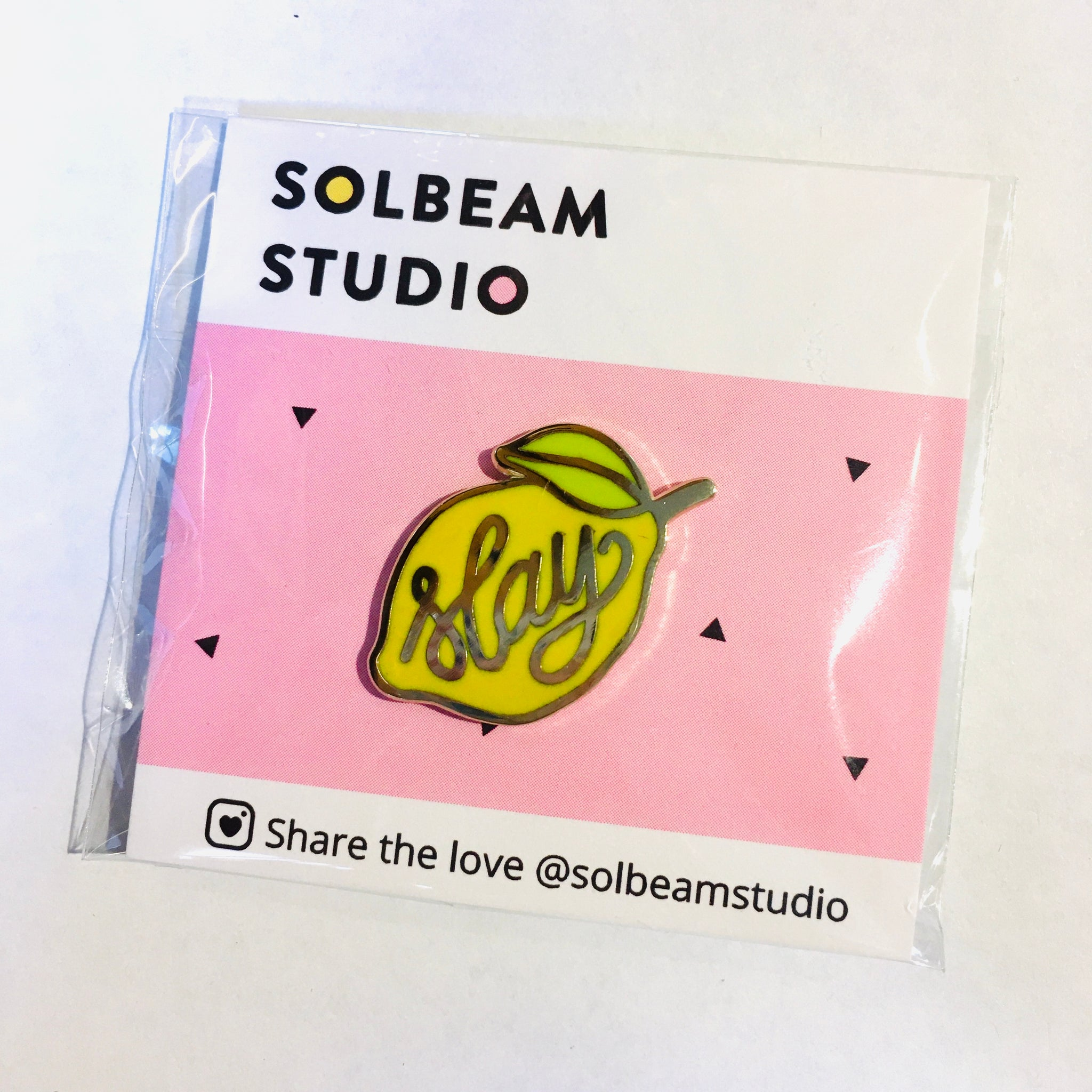 "Yellow Lemon ""Slay"" Pin"