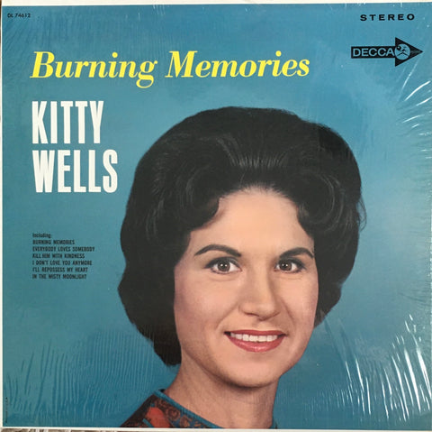 "Kitty Wells ""Burning Memories"" LP (1965)"