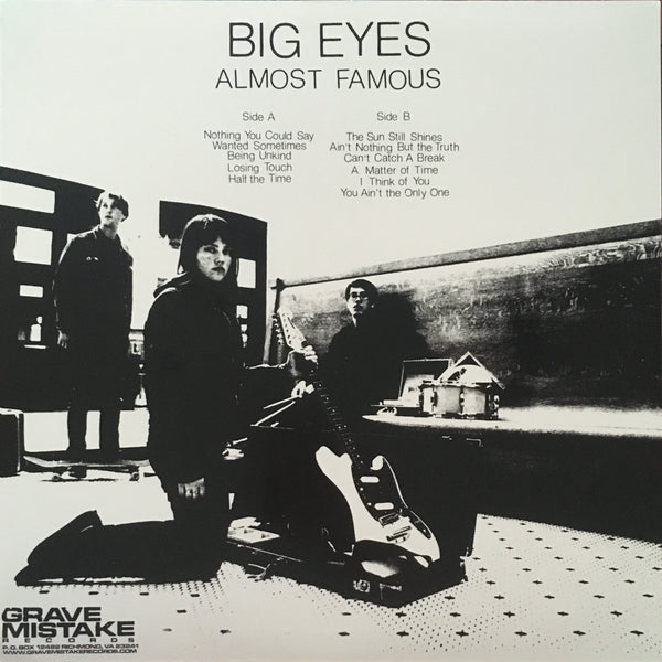 "Big Eyes ""Almost Famous"" LP (2013)"