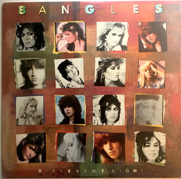 "The Bangles, ""Different Light"" LP (1985). Front cover image. Pop-rock, power-pop."