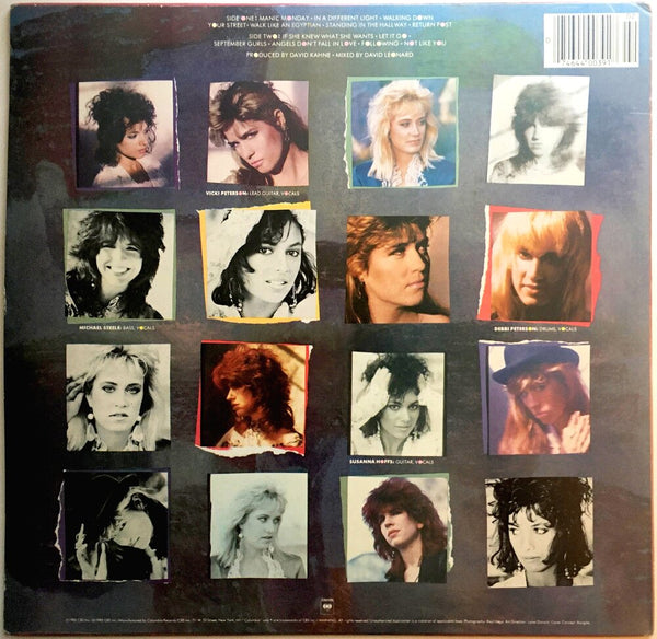 "The Bangles, ""Different Light"" LP (1985). Back cover image. Pop-rock, power-pop."
