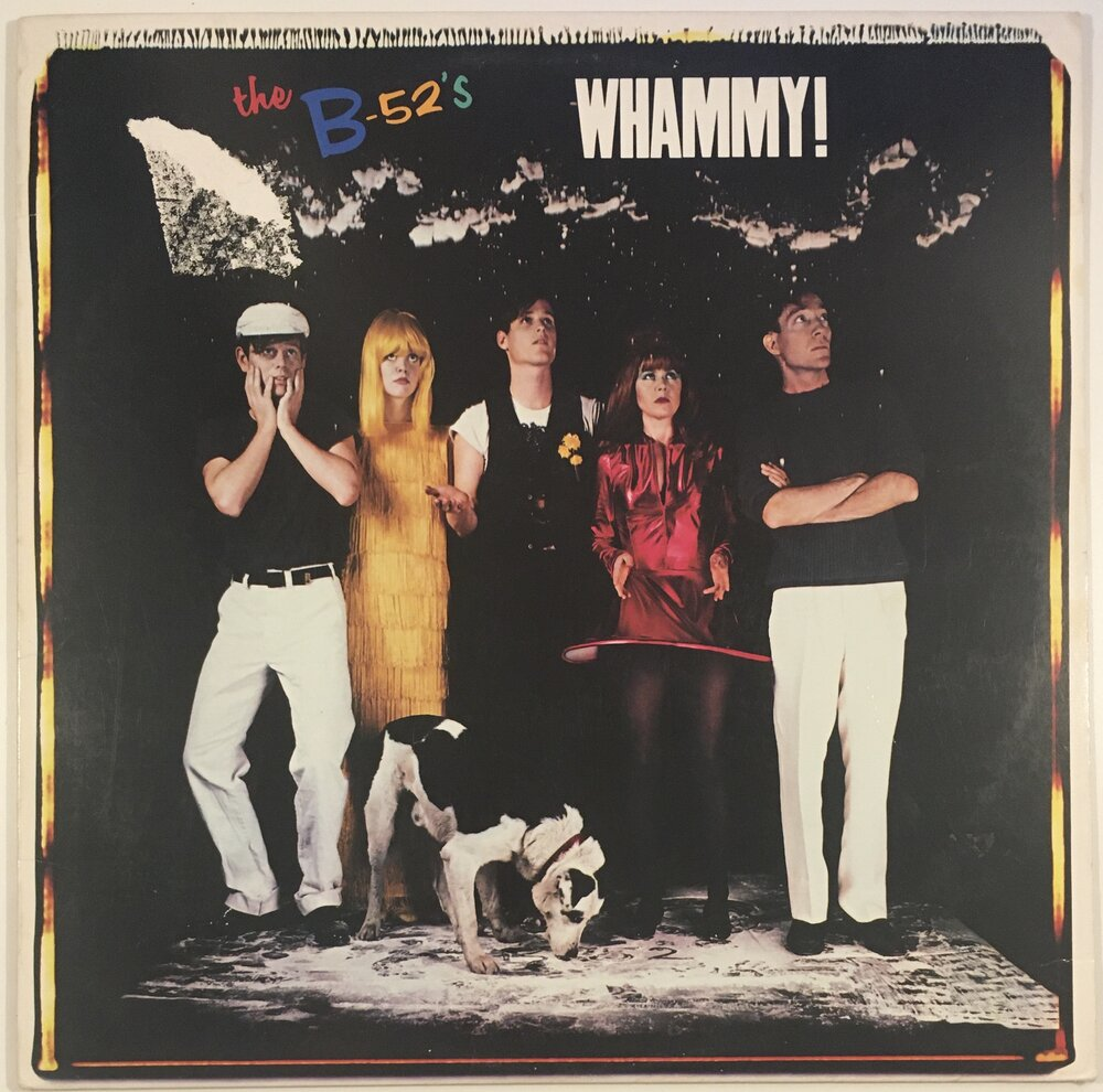 "The B-52's, ""Whammy!"" LP (1983). Front cover image. Pop, experimental, pop-rock, alternative rock."
