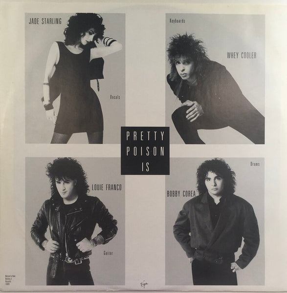 "Pretty Poison, ""Catch Me I'm Falling"" (1988). Inner sleeve, front, image. Pop-rock from Philadelphia."