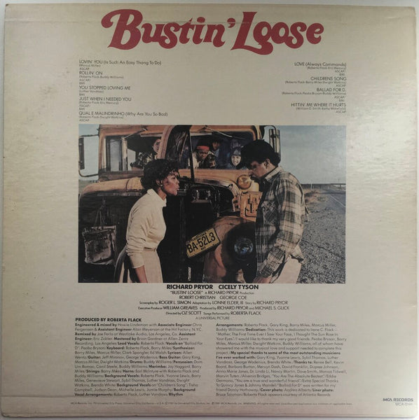 "Roberta Flack, ""Bustin Loose"" Promo LP (1981). Back cover image. Promo movie soundtrack, 80's, soul, funk."