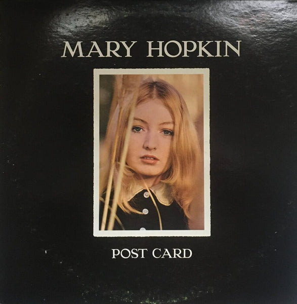 "Mary Hopkin, ""Post Card"" LP (1969). Front cover image. Folk and 60's tinged pop from Apple Records' artist Mary Hopkin."