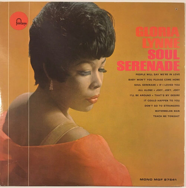 "Gloria Lynne, ""Soul Serenade"" Promo LP (1965). Front cover image. Mono. R&B, soul, and jazz, from the late great Gloria Lynne."