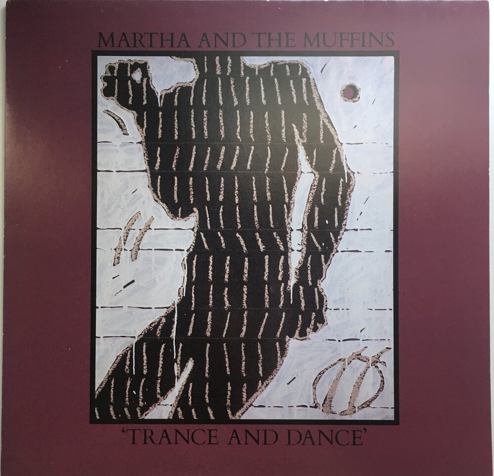"Martha and the Muffins, ""Trance and Dance"" LP (1980). Front cover image. Pop-rock, new wave, no wave, electronic, dance from Canadian group, M + M."