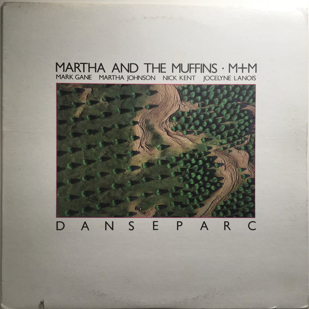 "Martha and The Muffins (M+M), ""Danseparc"" LP (1983). Front cover image. Promo. Canadian pop, dance, new wave, experimental."