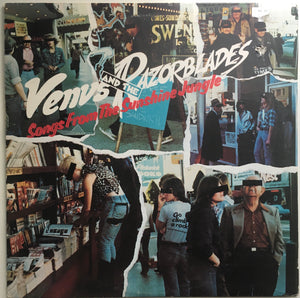"Venus And The Razorblades, ""Songs From The Sunshine Jungle"" LP (1978). Front cover image. Late 70's LA punk and power-pop."