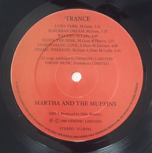 "Martha & The Muffins ""Trance and Dance"" LP (1980)"