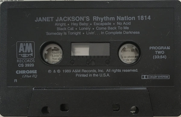 "Janet Jackson ""Rhythm Nation 1814"" CS (1989)"