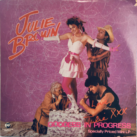 "Julie Brown ""Goddess In Progress"" EP LP (1984)"