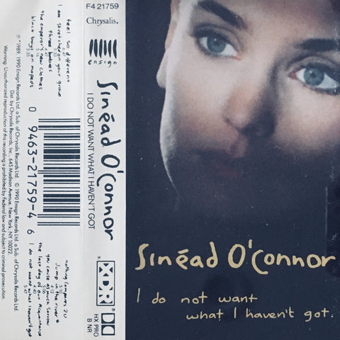 "Sinead O'Connor ""I Do Not Want What I Haven't Got"" CS (1990)"