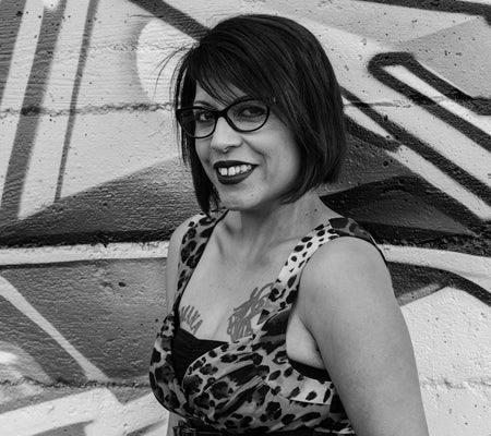 "Michelle Cruz Gonzales, ""The Spitboy Rule: Tales of a Xicana in a Female Punk Band"" Book (2016). Author image. Preface also features Mimi Thi Nguyen and Martin Sorrondeguy. Hardcore, feminism, and punk, Spitboy."