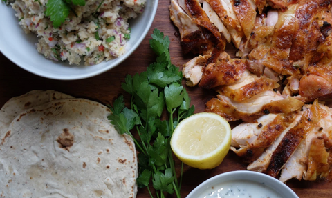 Peri Peri Chicken with Couscous & Flatbread