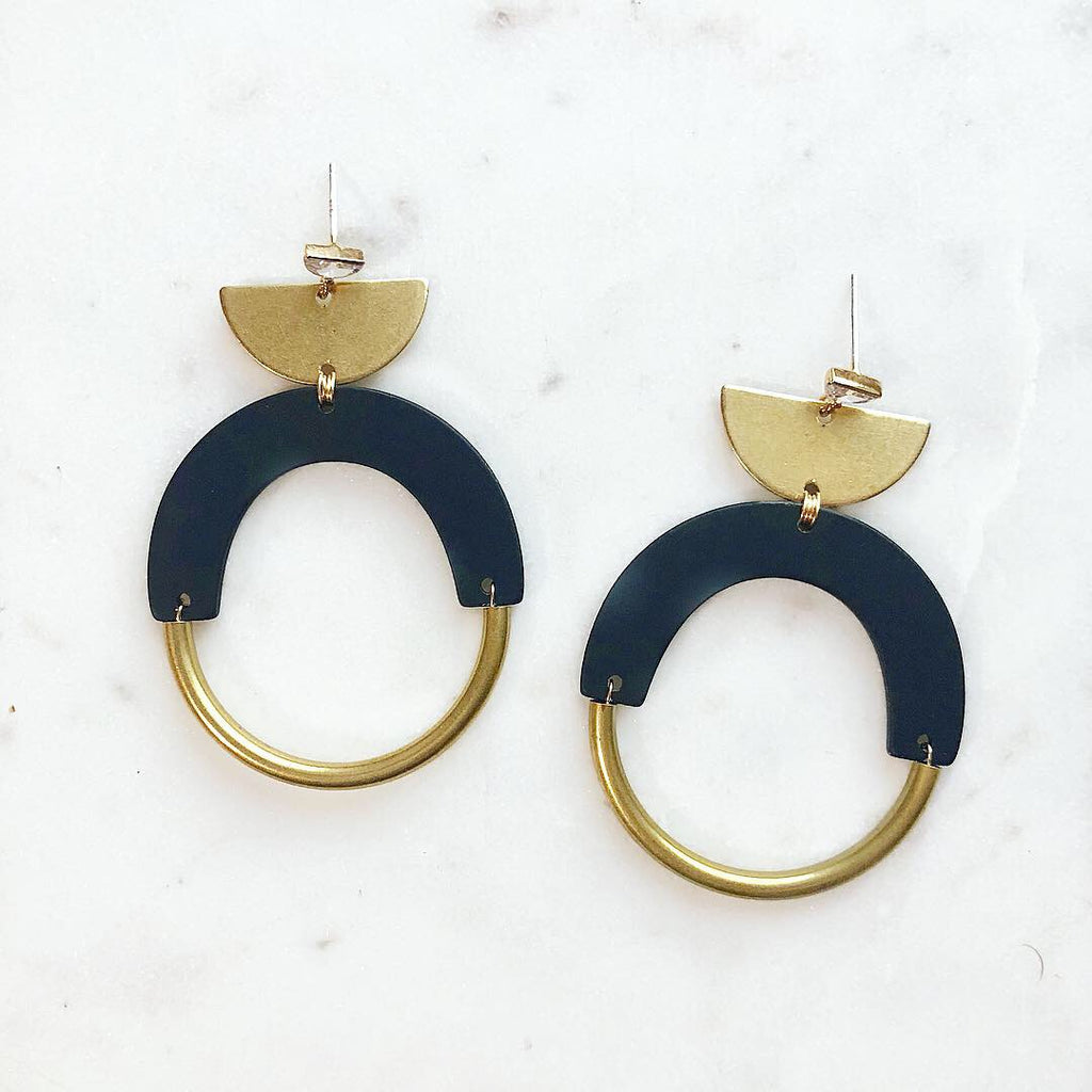 Bold As Brass Earrings
