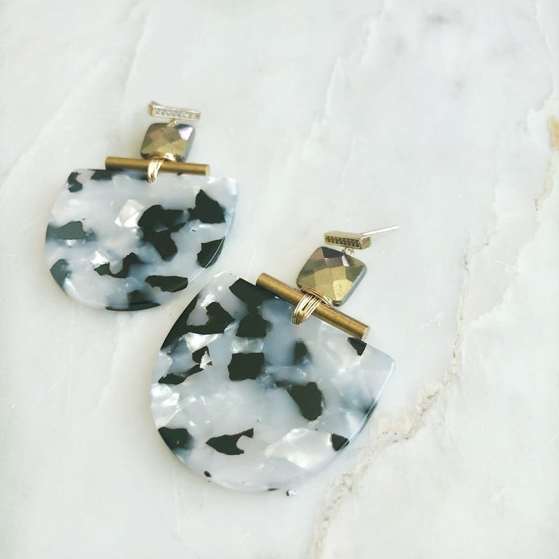 CZ Mezcal Pyrite Earrings