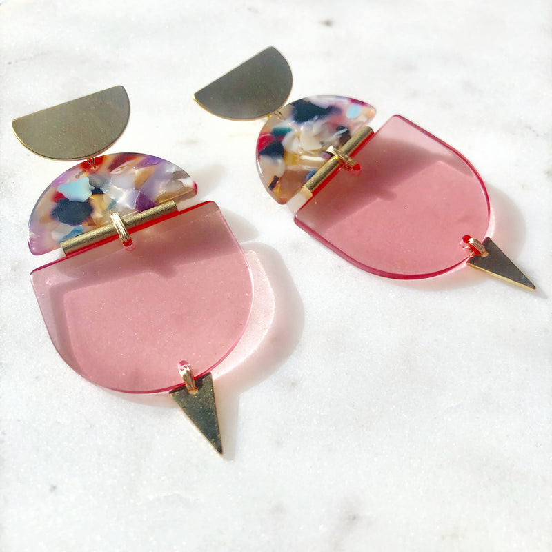 Loud & Clear In Rose Earrings