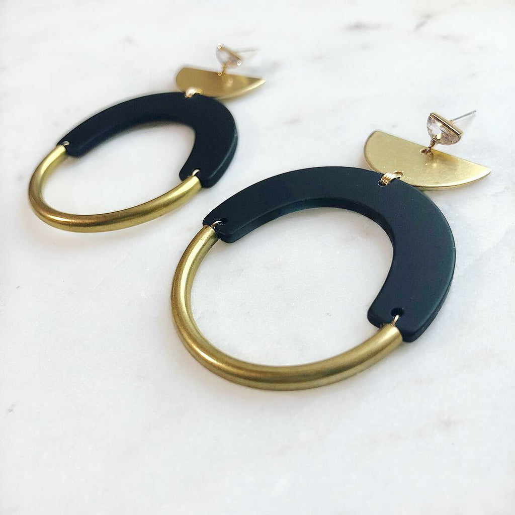 CZ Bold As Brass Earrings