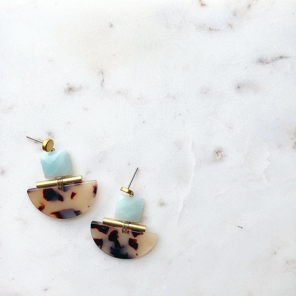 Amazonite In Bloom Earrings