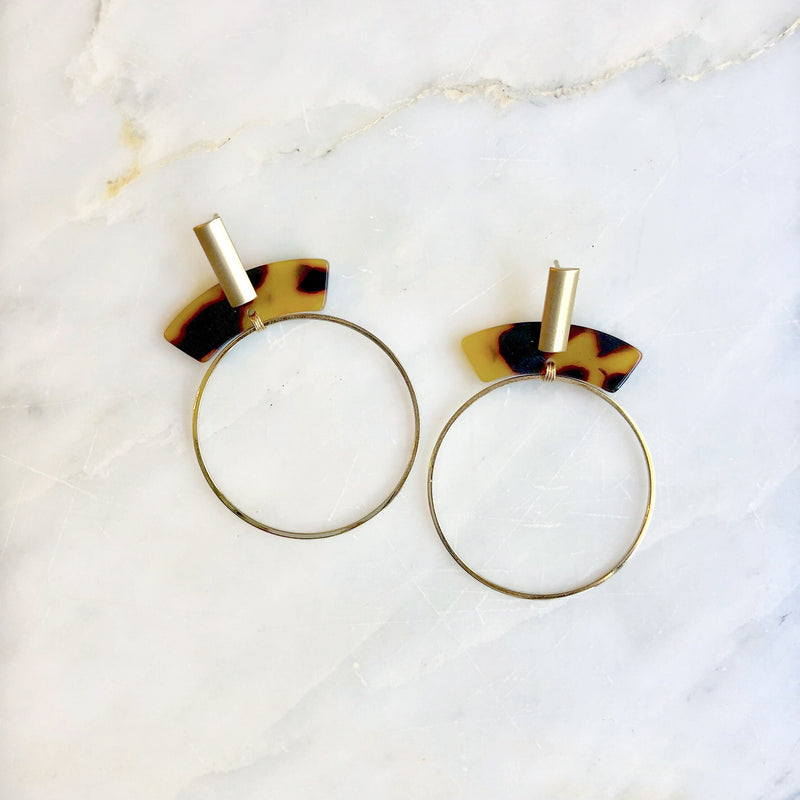 Brass Hula-Hoop Earrings
