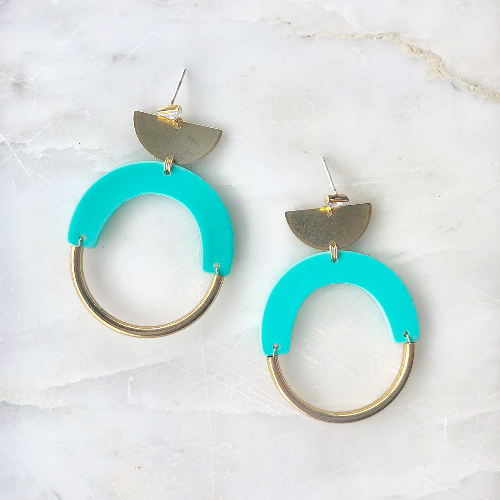 CZ Bold As Brass In Turquoise