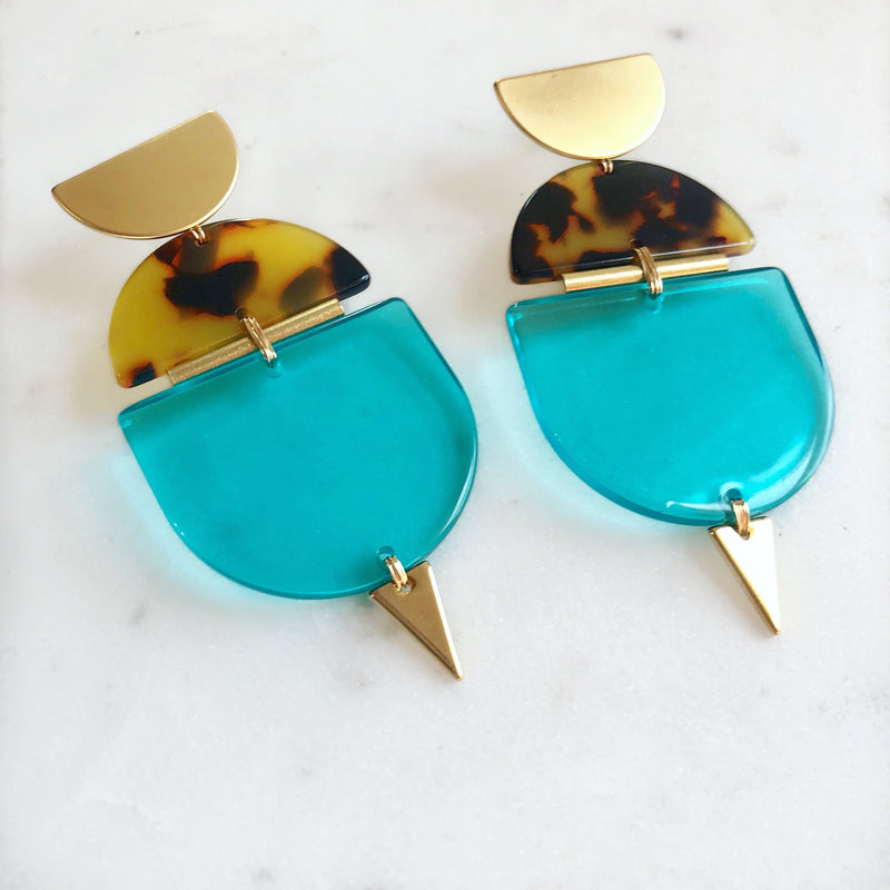Loud & Clear In Turquoise Earrings