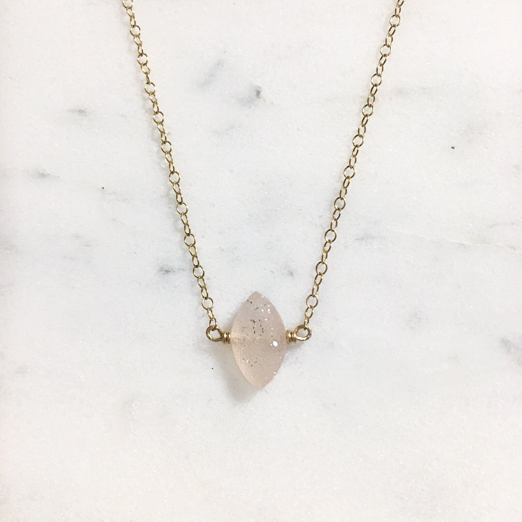 Hint of Druzy Necklace