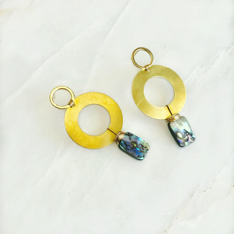 Abalone Ripple Earrings