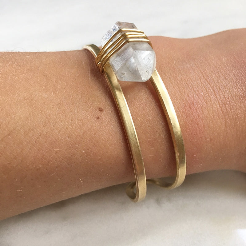 Collateral Bangle in Herkimer Diamond