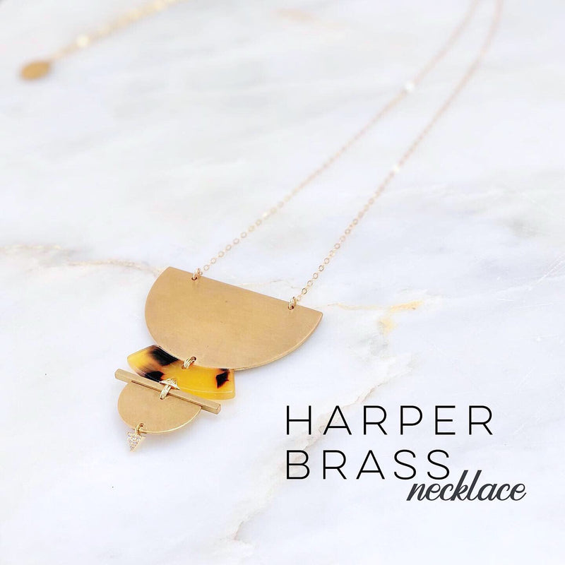 Harper Brass Necklace