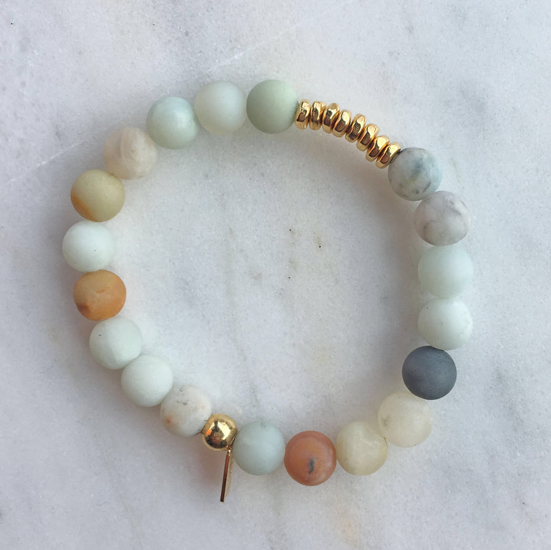 Amazonite Mix Mala Bracelet | center |