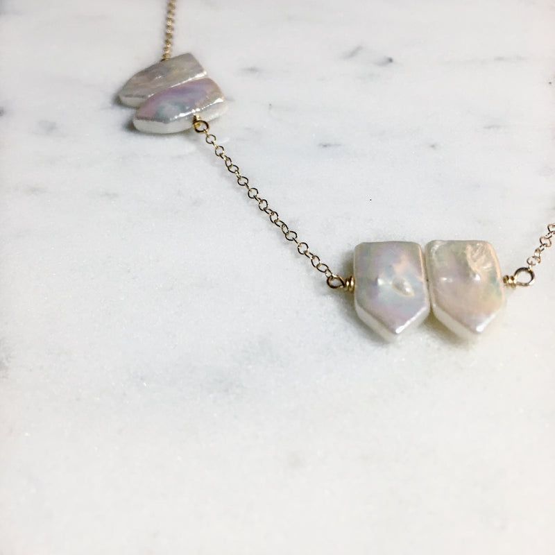 Free Bird Necklace in Freshwater Pearl